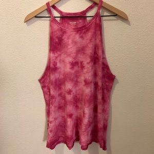Mossimo Supply Co- pink tie-dyed tank